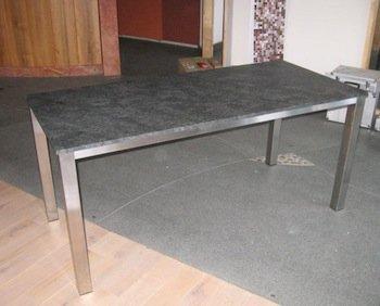 Edelstahltische granittische for Tisch aus granit
