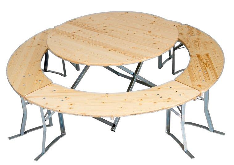 runde bierzeltgarnituren bis 200cm tischdurchmesser. Black Bedroom Furniture Sets. Home Design Ideas